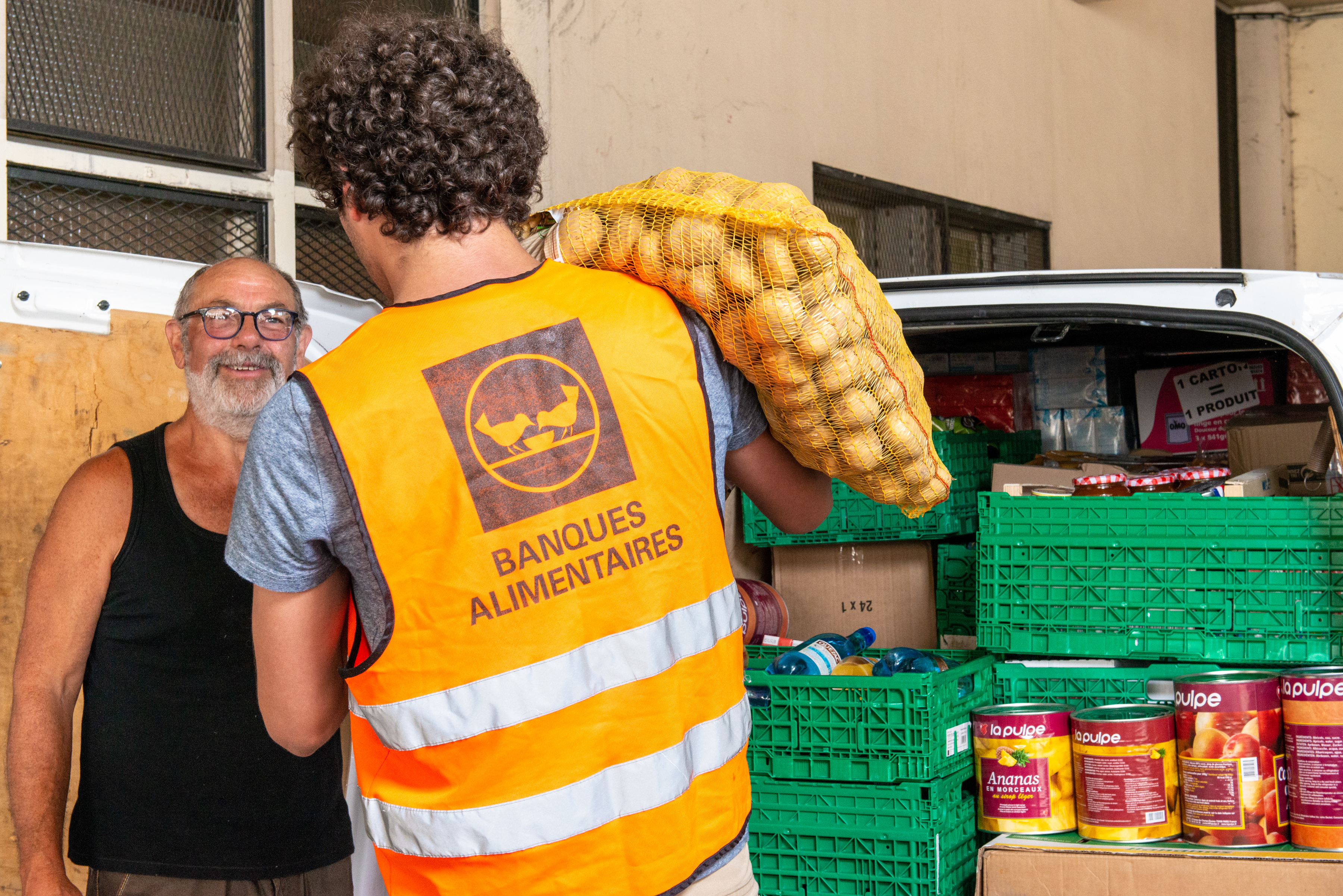Distribution banque alimentaire